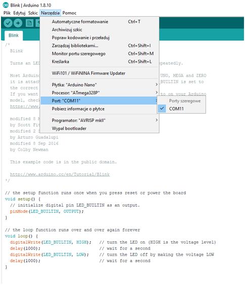 Arduino nano - nowy bootloader 2
