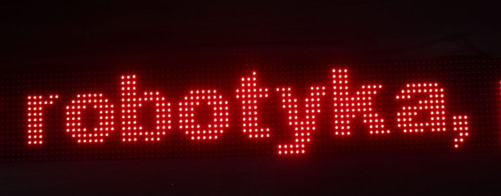 Własna reklama LED - projekt i programowanie 1